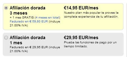 precio Adultfriendfinder España