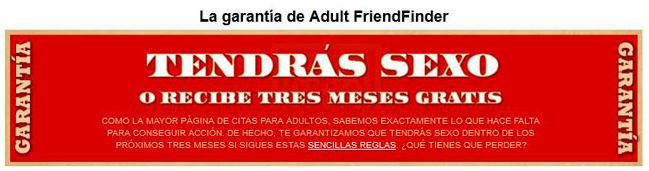 garantia adult friendfinder 3 meses gratis