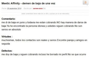 opiniones meetic afinity